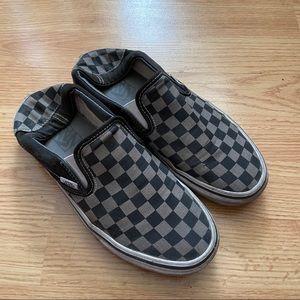 3/$30 Vans Slip On Black and Grey Skate Shoes